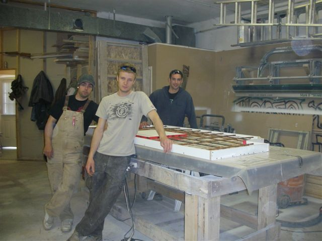 Attractive Inside Our Shop. The White Thing Is The Form We Built For A Custom Concrete  Countertop.